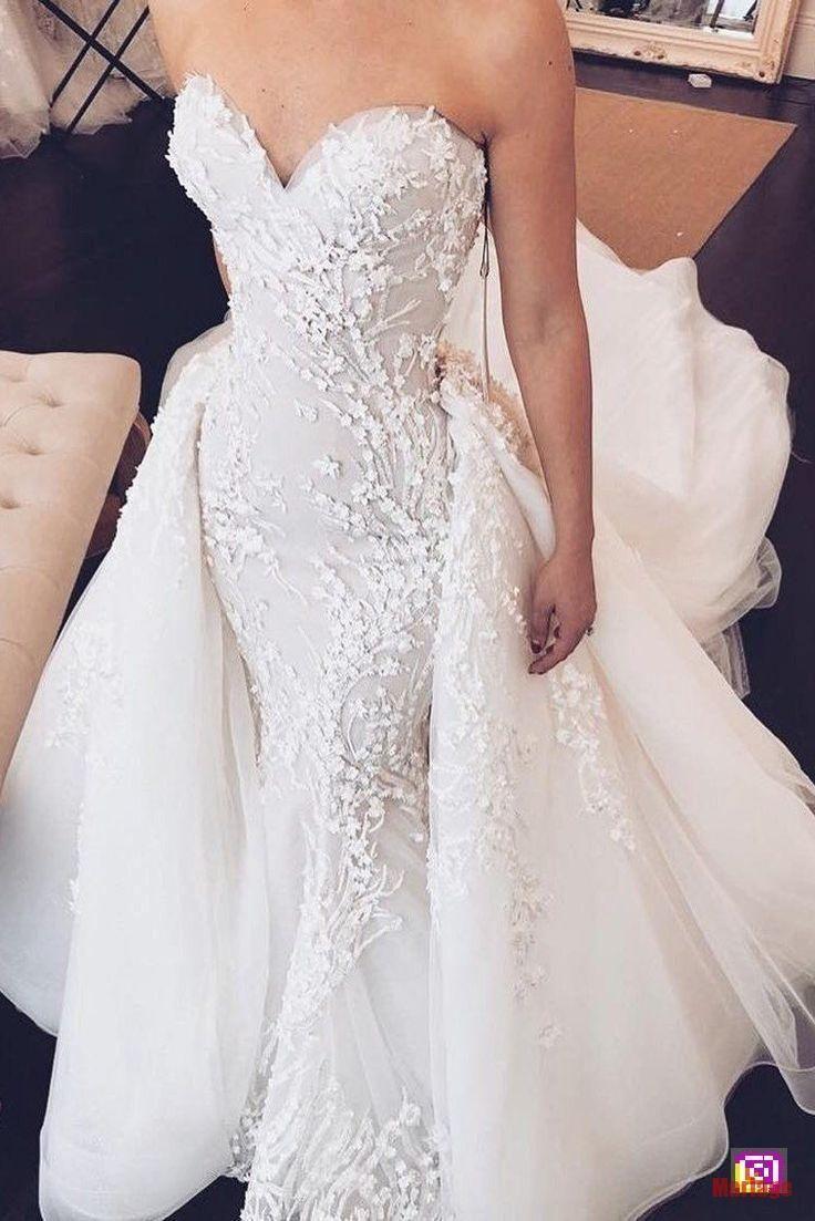 Mariage 2 en 1 Robe de mariée sirène avec