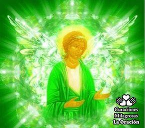 ORACIÓN AL ARCÁNGEL RAFAEL para la sanación y purificación del alma ) El Arcángel Rafael representa la sanación y purificación del alma y el cuerpo. Guía