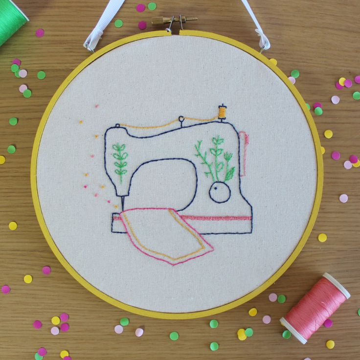 Hand-stitched Embroidered Illustration // www.scoutshonour.co.uk