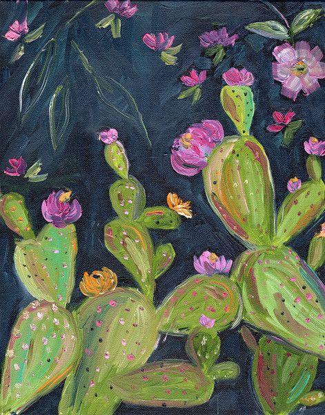 Desert Art Series - Prickly Pear 2 - Original