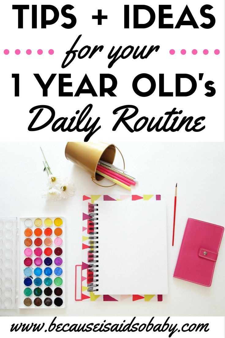 Practical tips & ideas for what to do with your 1 yr old. If you're a stay-at-home-mom, this is a must read. Having a set daily schedule is essential for you and your toddler.