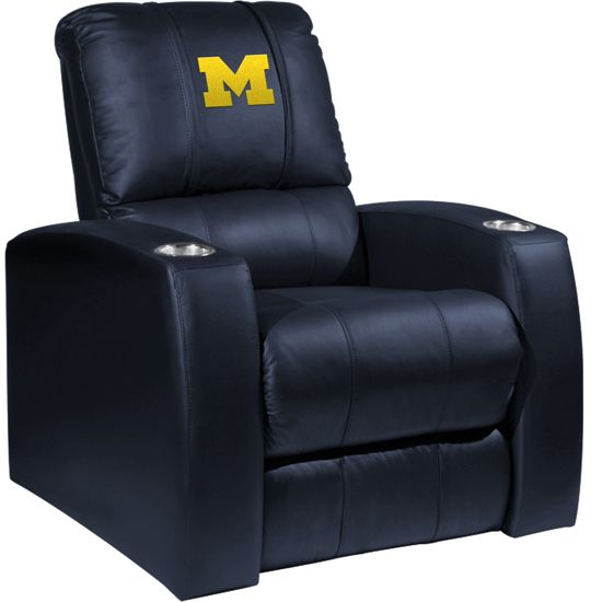 XZipit University of Michigan Regatta Home Theater Recliner ... Perfect for your Michigan Man Cave