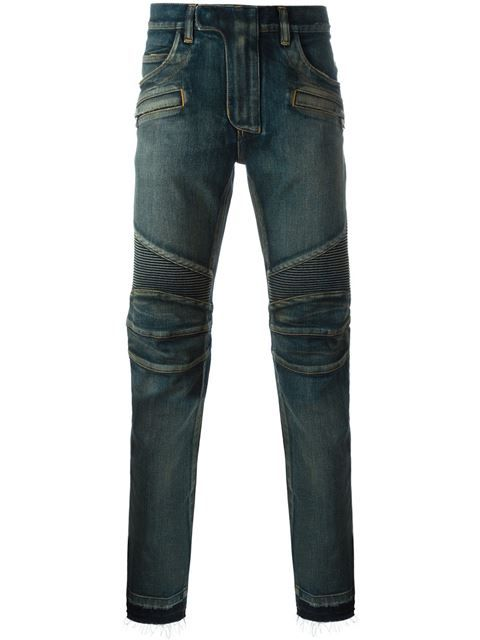 BALMAIN Biker Jeans. #balmain #cloth #jeans