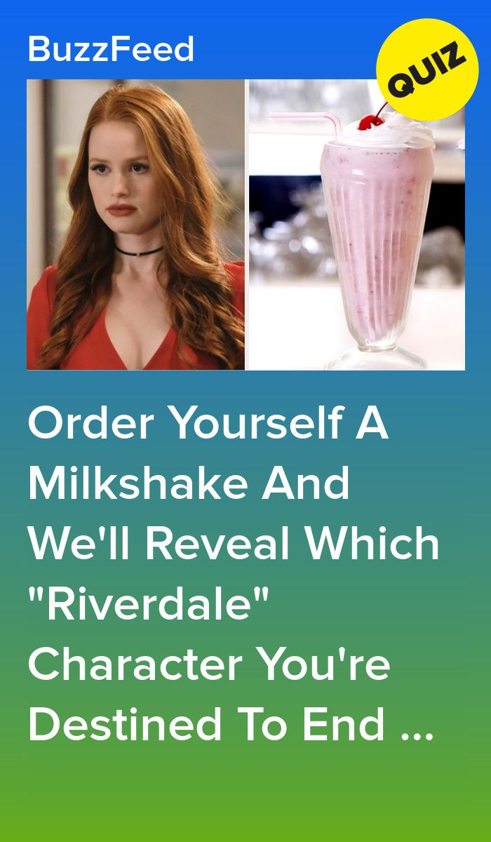 Build A Milkshake And We'll Tell You Which