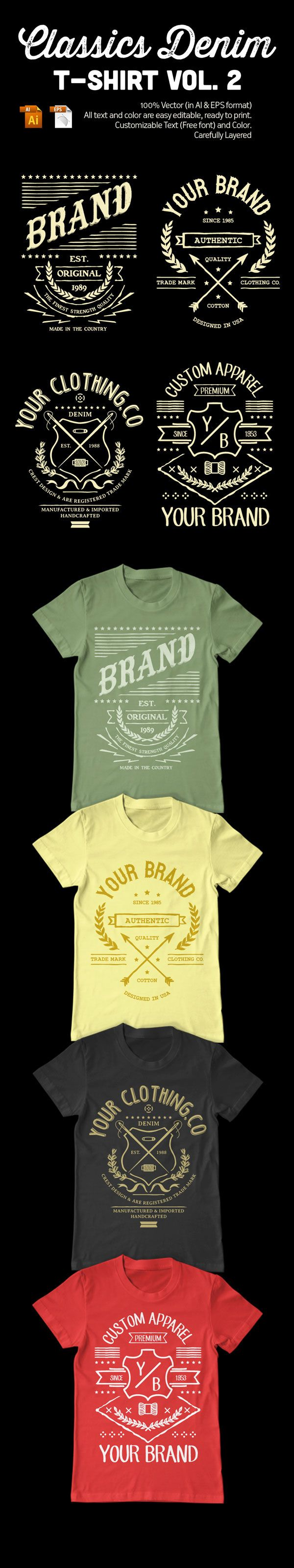 Vintage T-Shirt Design Template on Behance