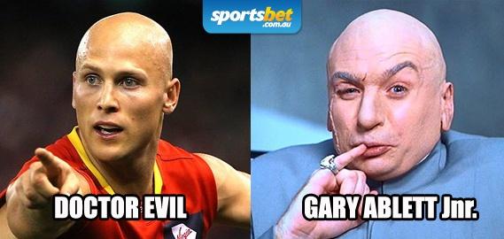 Look Alikes - Doctor Evil & Gary Ablett Jnr - Sportsbet.com.au