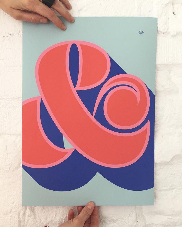 Ampersand #poster #design by Martina Flor