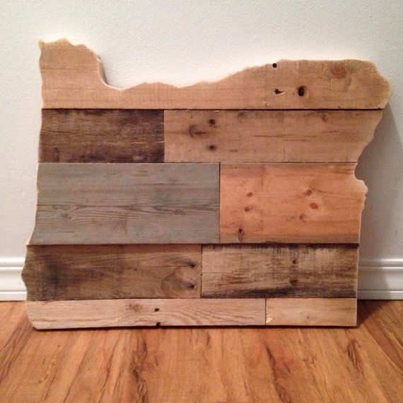 Oregon state sign reclaimed wood pallet sign home for Reclaimed wood oregon