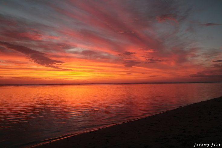coucher de soleil réunionnais