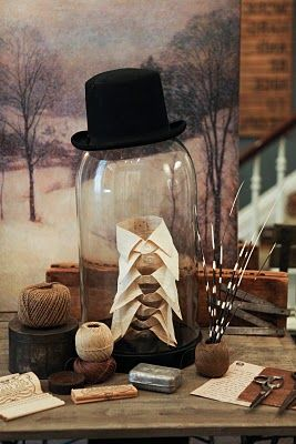 glass cloche in one of the best uses i've seen.