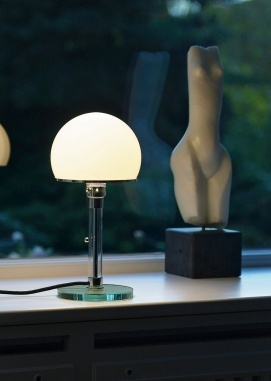 Bauhauslampen af Wilhelm Wagenfeld