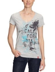 edc by ESPRIT Damen T-Shirt Regular Fit, 032CC1K036