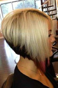 super stacked angled bob - Google Search