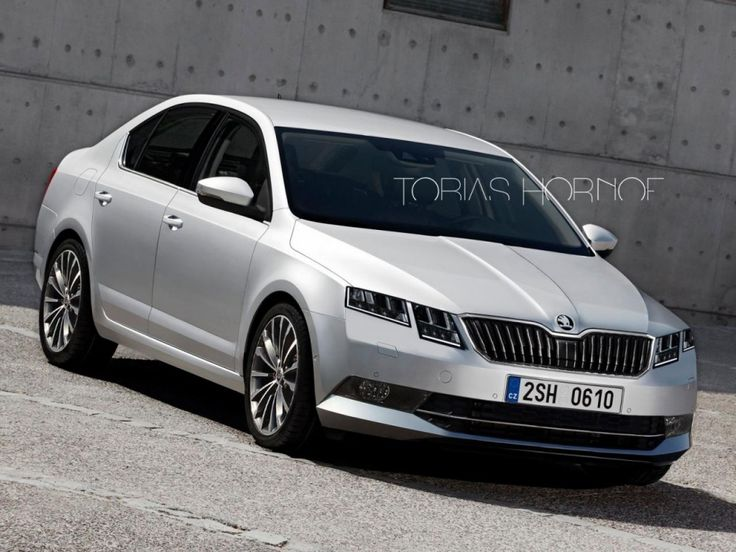 2017 Skoda Octavia rendering with four headlamps by Tobias Hornof