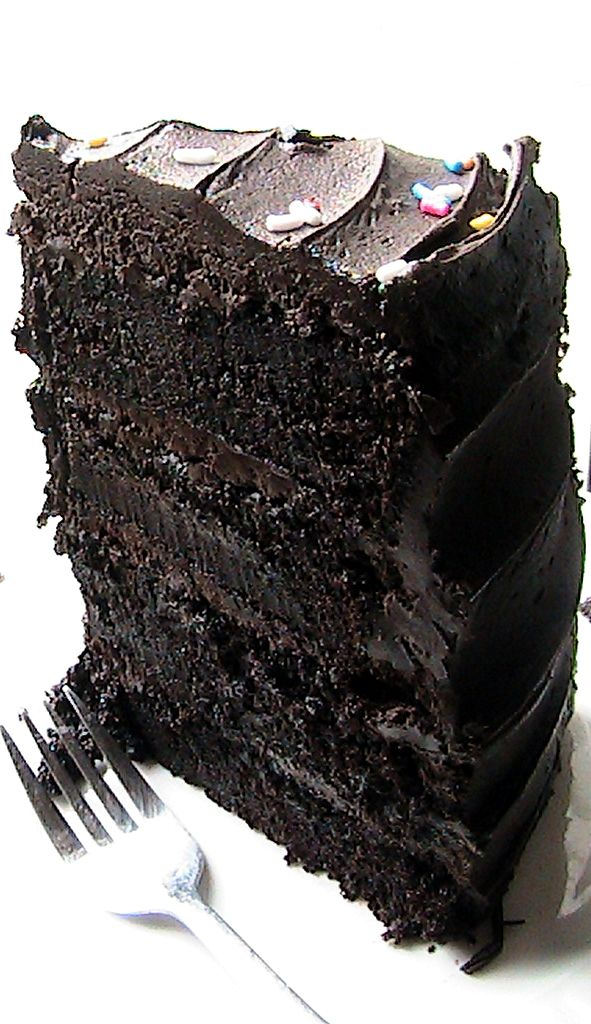Hershey's Decadent Dark Chocolate cake. [ KellysDelight.com ] #cake