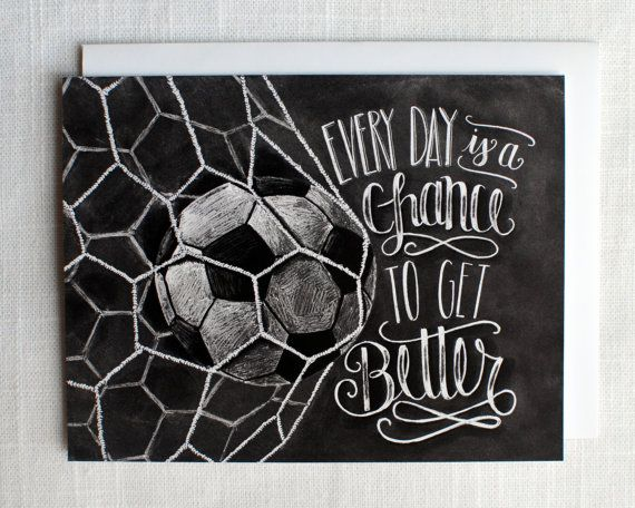 Soccer Card Soccer Coach Gift Motivational Quote by TheWhiteLime