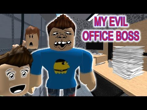 MY EVIL OFFICE BOSS LOOKS LIKE A VAMPIRE! / ESCAPE FROM THE OFFICE OBBY /
