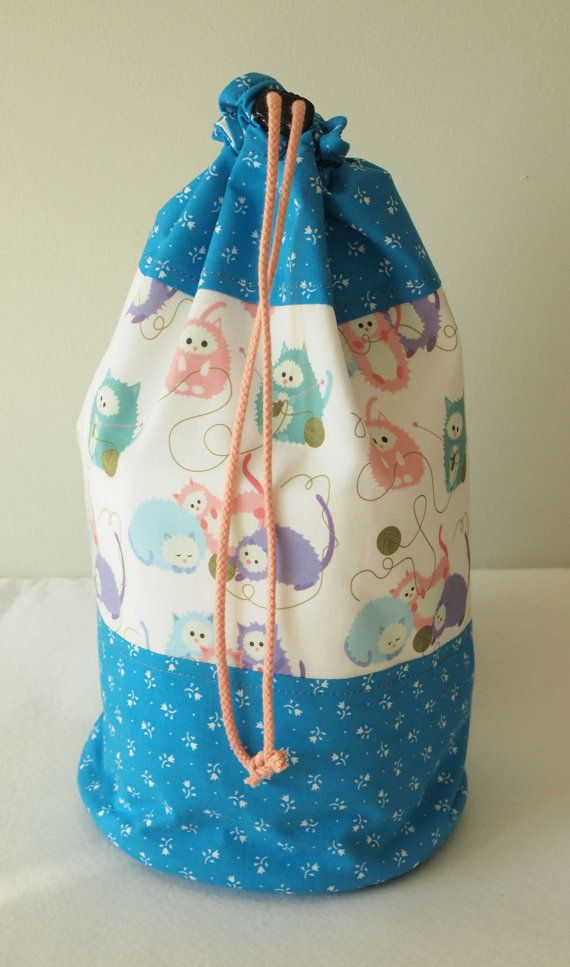Medium Knitting Project Bag Crochet by IvelleTheHappyCow on Etsy, €21.00