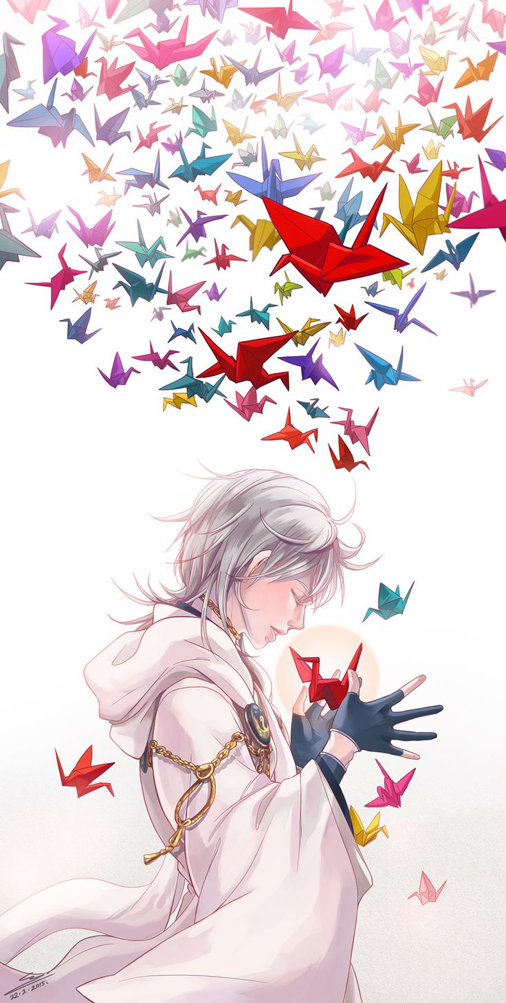 "silentmight: ""I wished upon a thousand cranes for you and then on a warm spring morning you finally came to my side """