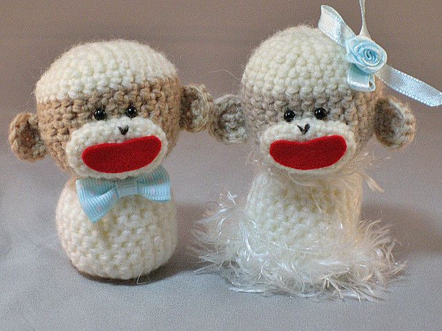 Amigurumi Sock Monkey Wedding