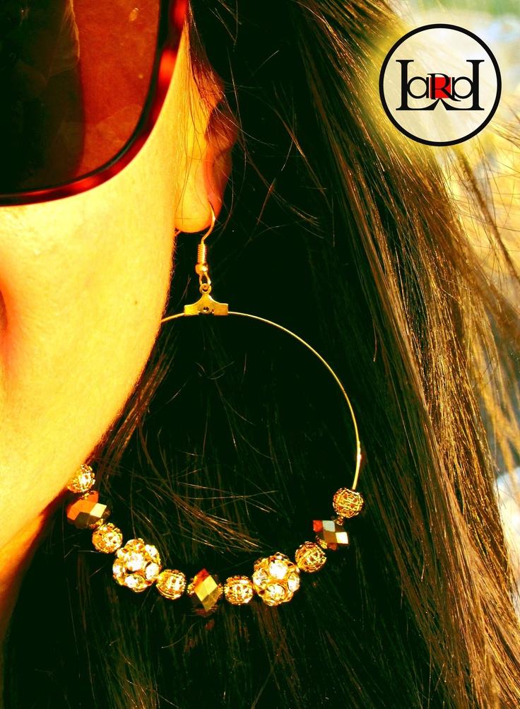 Glow big earrings