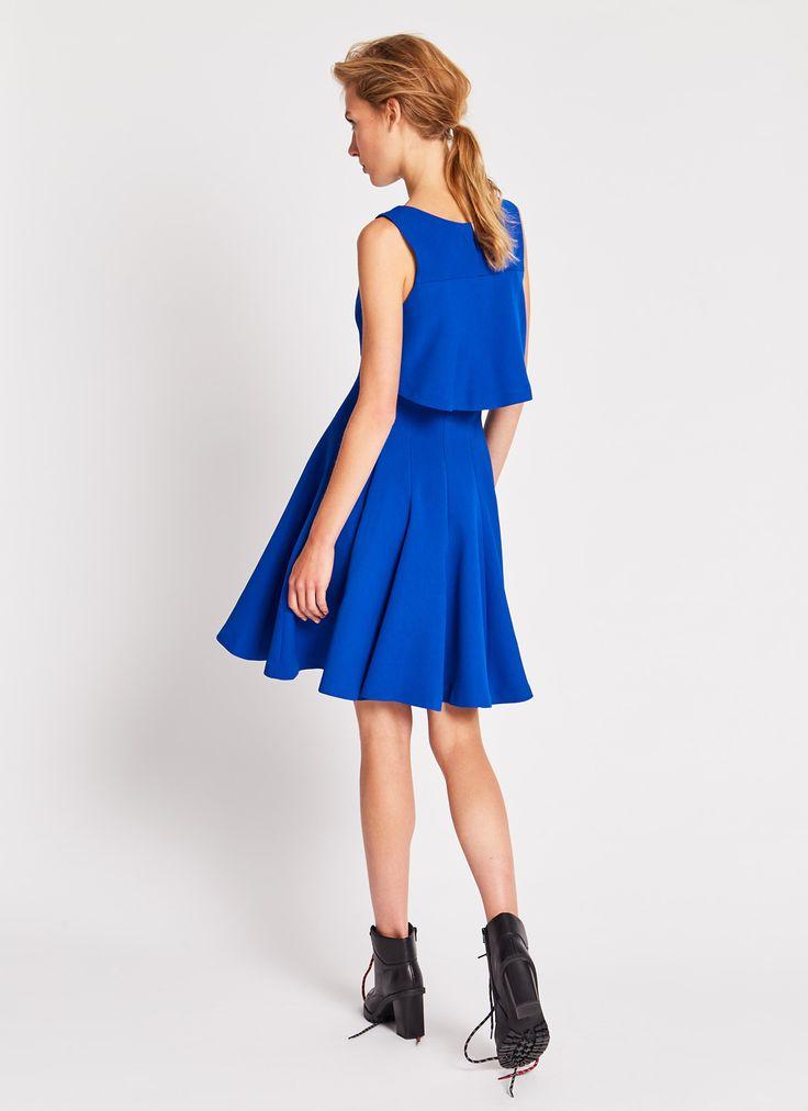Vestido con capelina - Vestidos | Adolfo Dominguez shop online