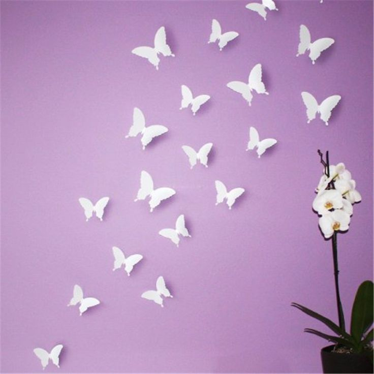 Exceptional White Butterfly Wall Decor