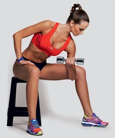 Exercícios para os braços - rosca concentrada