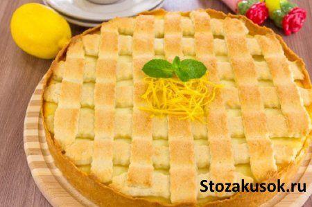 Кростата с рикоттой, итальянский пирог с сыром