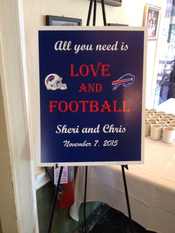 Buffalo Bills Wedding Sign