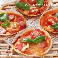 餃子の皮でミニピザ~トマトジュースで簡単ピザソース~