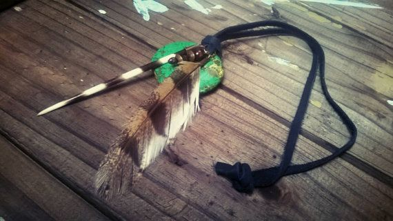 Check out this item in my Etsy shop https://www.etsy.com/uk/listing/244458539/green-stone-feather-necklace