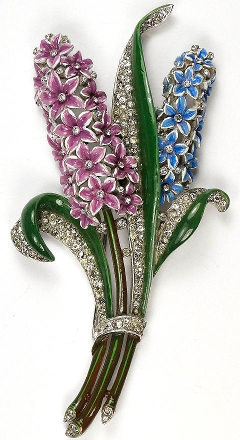 Trifari 'Alfred Philippe' Giant Double Hyacinth Pin Clip