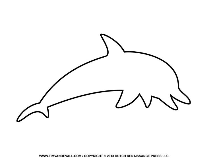 Dolphin Outline mermaid baby shower Dolphin coloring