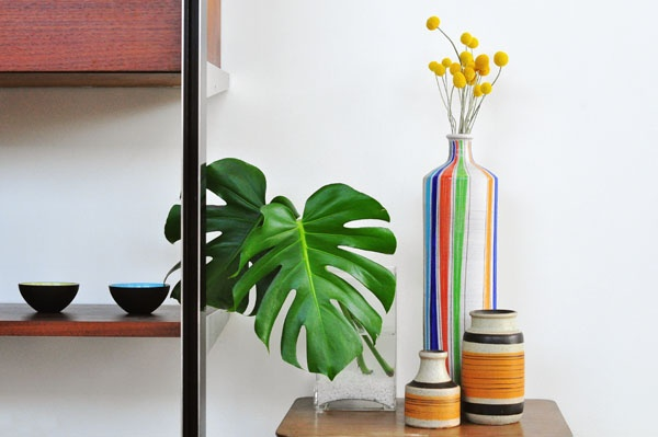 : Interiors Inspiration, Interior Decoration, Green, Vertical Stripes, De Monstera, Ceramics, Interiors Note, Flowers, Tall Vase