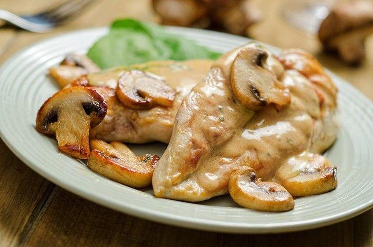 Chicken Breasts with Mushroom Cream Sauce