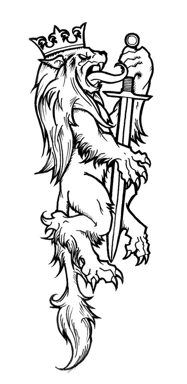 Heraldic Lion by The-SuicideKing