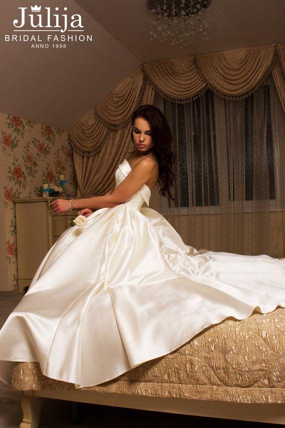 Klassieke bal toga Bruids jurk romantische door JulijaBridalFashion