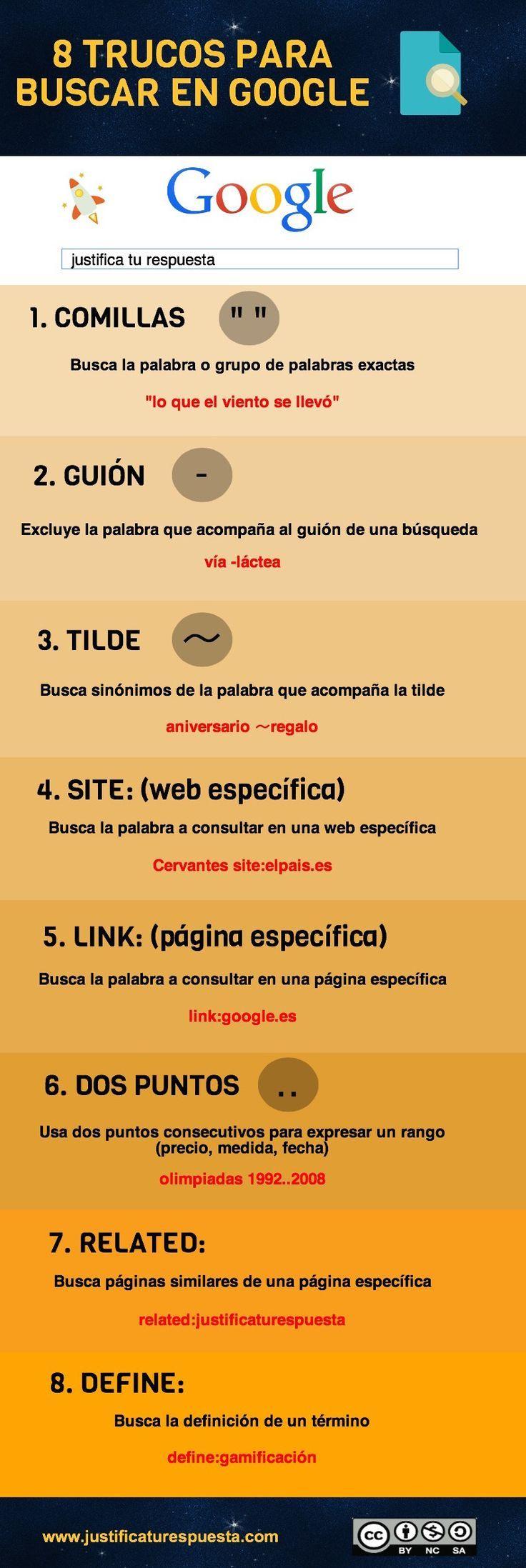 TIC en IE.5136 Fernando Belaúnde Terry - Callao: 8 trucos para buscar en Google y ganar tiempo