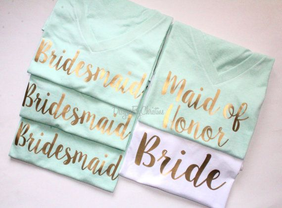 Bridal Party Shirt Set. Bridal Party by DesignsbyChristineE                                                                                                                                                                                 More