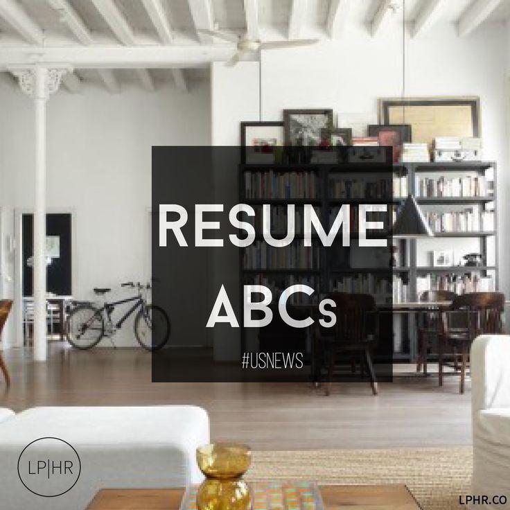 Resume ABC's via @USNews // http://bit.ly/U6qf8W