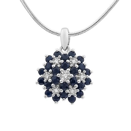 I really like that. White gold, sapphires and diamonds #sapphire  #diamonds  #diamond #pendant #whitegold #jewelery