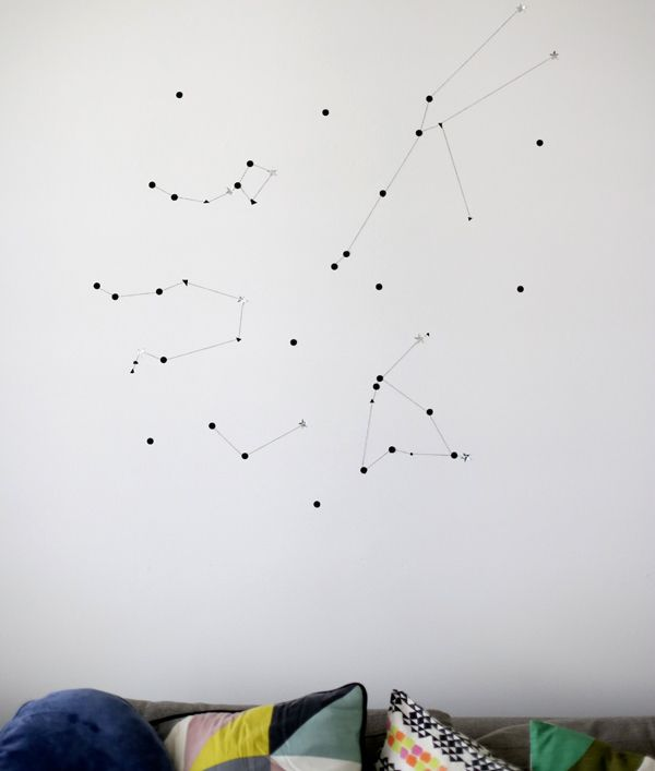 Sticker star wall constellation. I would like to do this using only glow-in-the-dark materials.