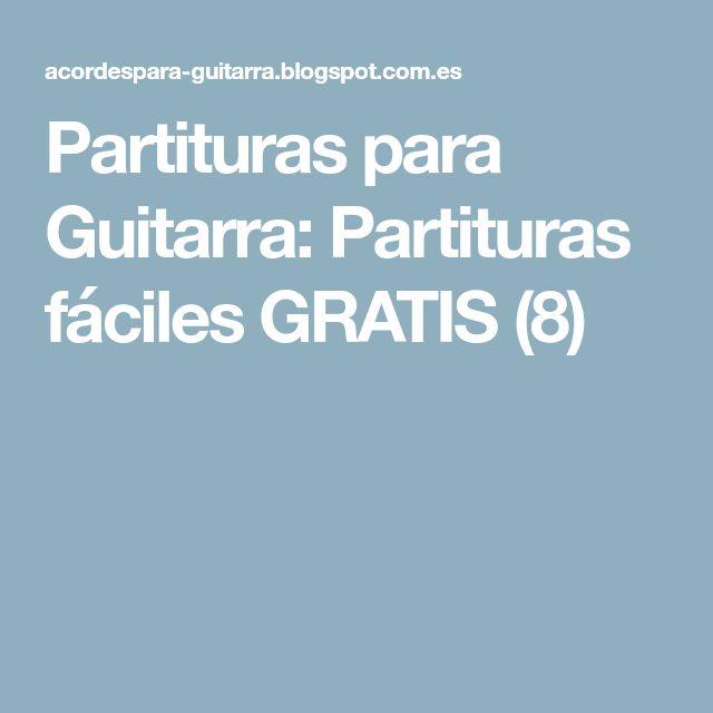 Partituras para Guitarra: Partituras fáciles GRATIS (8)