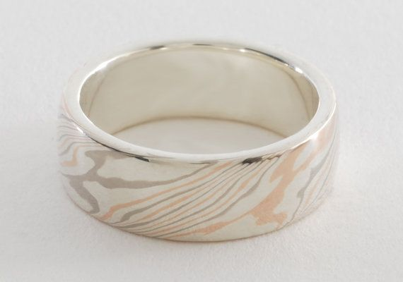 Mokume Gane Ring Three Color with a by MasterworksJewellery, $639.00