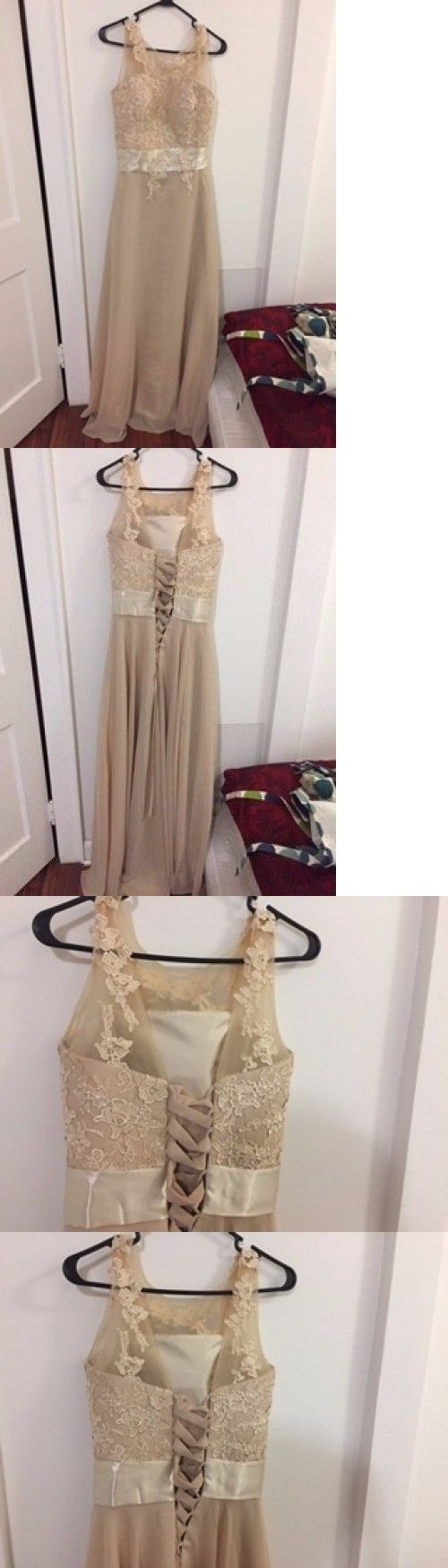 Prom And Formal Dresses: Long Chiffon Lace Evening Formal Party Ball Gown Prom Bridesmaid Dress Size 6~22 BUY IT NOW ONLY: $48.68