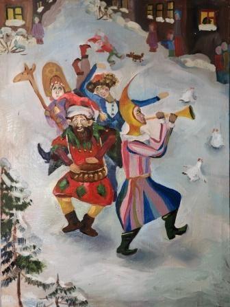 скоморохи Борисова Зинаида