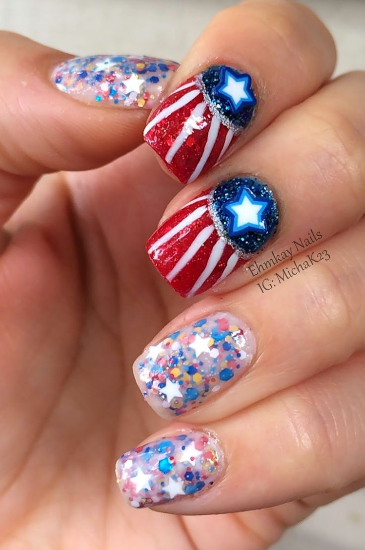 17 best images about the 4th of july on pinterest happy for 4th of july nail art decoration flag