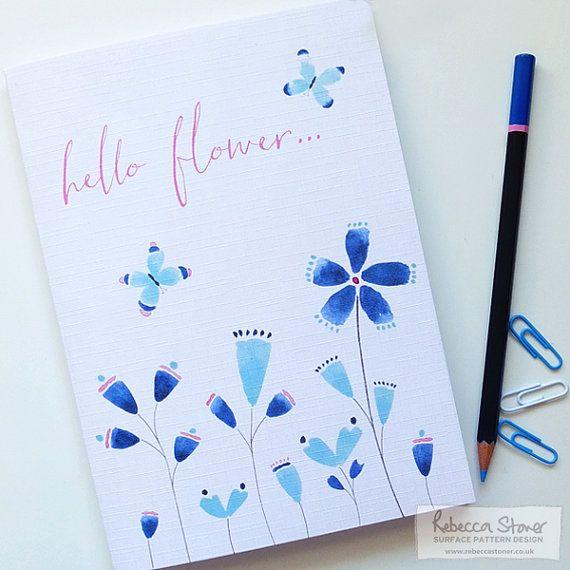 Hello Flower Notebook by Rebecca Stoner