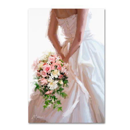 Trademark Fine Art Wedding Dress Canvas Art By The Macneil